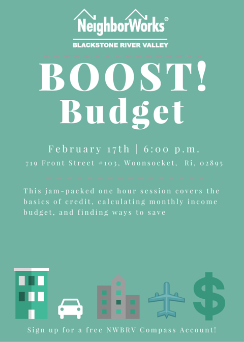 Budget BOOST! | Financial Class @ NWBRV HomeOwnership Center | Woonsocket | Rhode Island | United States