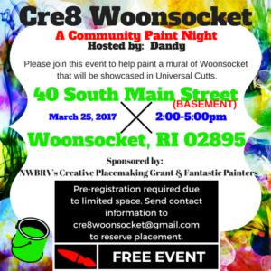 Cre8 Woonsocket, A Community Paint Night @ Basement, 40 South Main | Kansas City | Missouri | United States