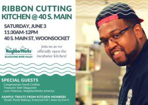 Ribbon Cutting - Kitchen Incubator @ 40 S. Main @ 40 S. Main Street | Woonsocket | Rhode Island | United States