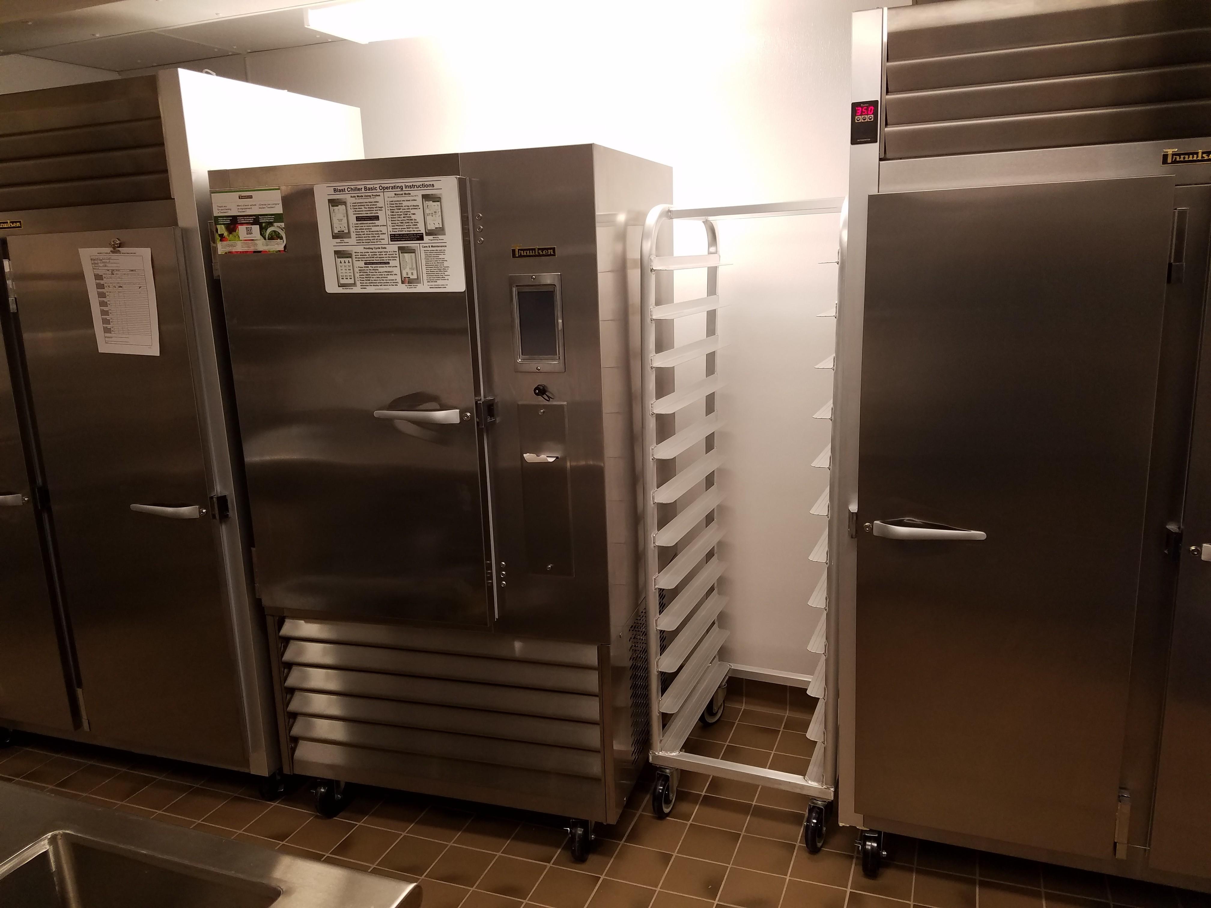 blast chiller, freezer and refrigerator