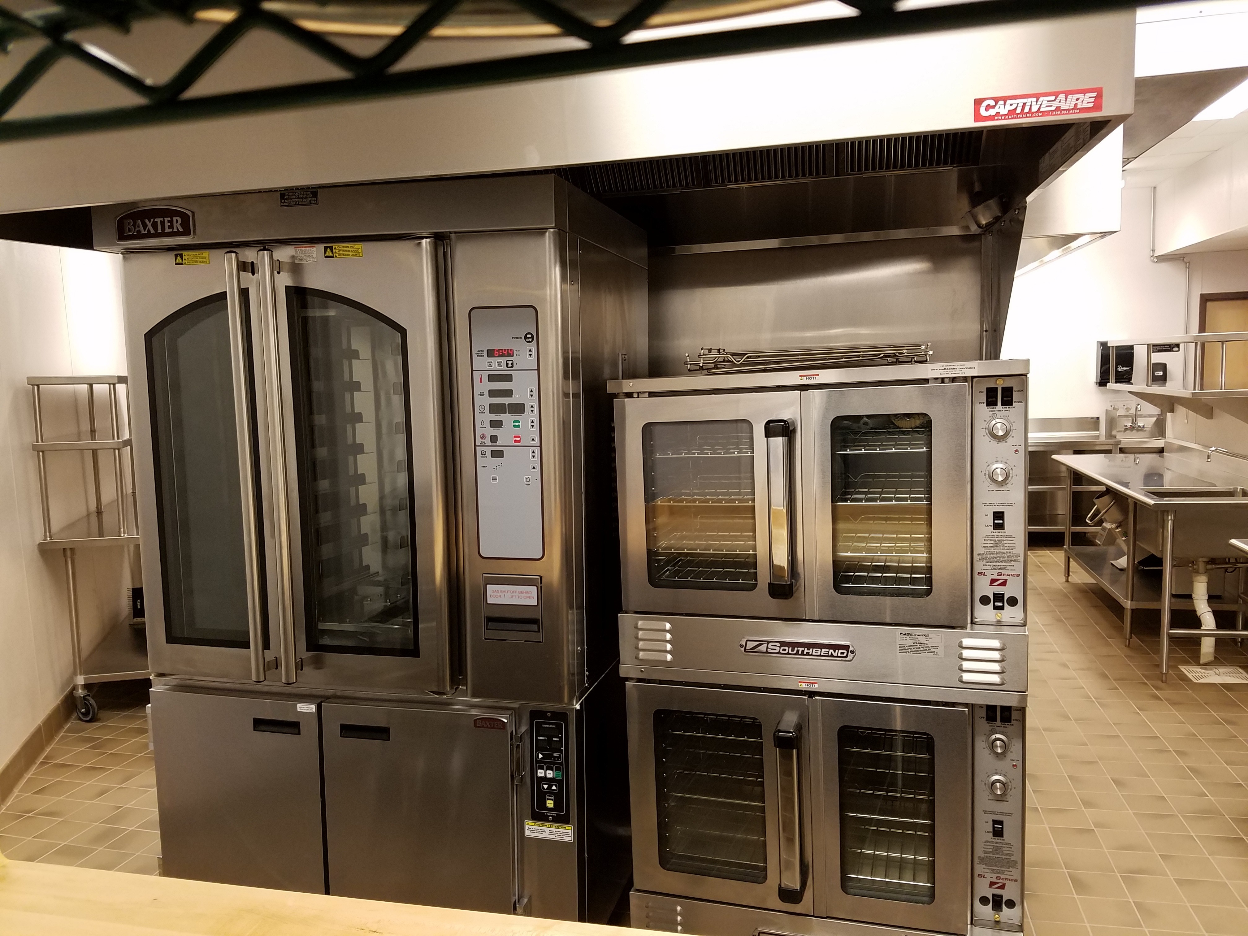convection ovens (Baxter and Southbend)
