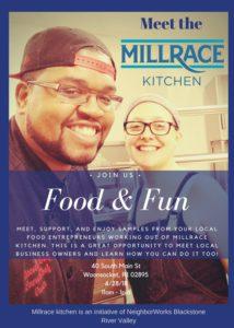Meet the Millrace Kitchen Open House @ Millrace | Woonsocket | Rhode Island | United States